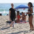 Exclusif - Christina Milian, Karrueche Tran et Shaun Ross profitent d'un après-midi ensoleillé à Malibu, le 20 juin 2016. © CPA/Bestimage