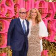 "Rupert Murdoch et sa femme Jerry Hall assistent à l'avant-première mondiale du film ""Absolutely Fabulous: The Movie"" à Londres, le 29 juin 2016."