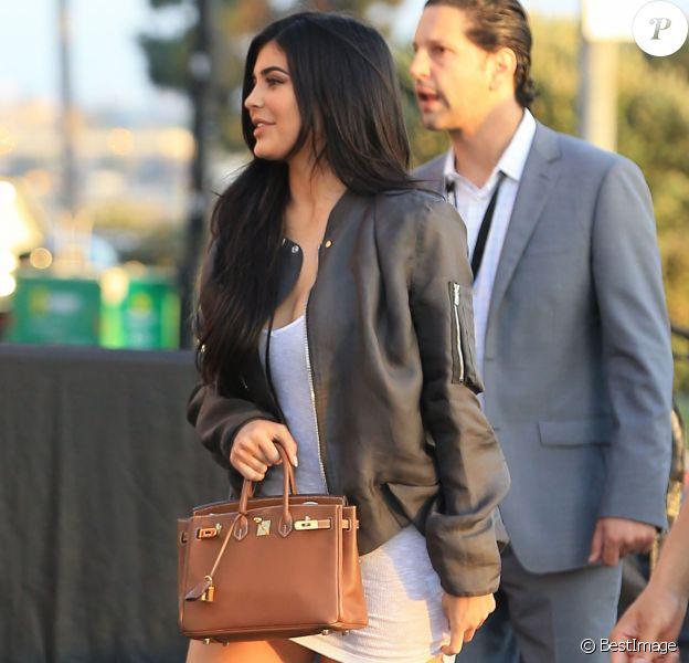"""Kylie Jenner et Tyga arrivent à la première du clip de Kanye West """"Famous"""" à Los Angeles le 24 juin 2016."""