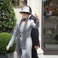 Céline Dion sort de son hôtel à Paris pour se rendre à son concert à l'Accorhotels Arena. Le 2 juillet 2016