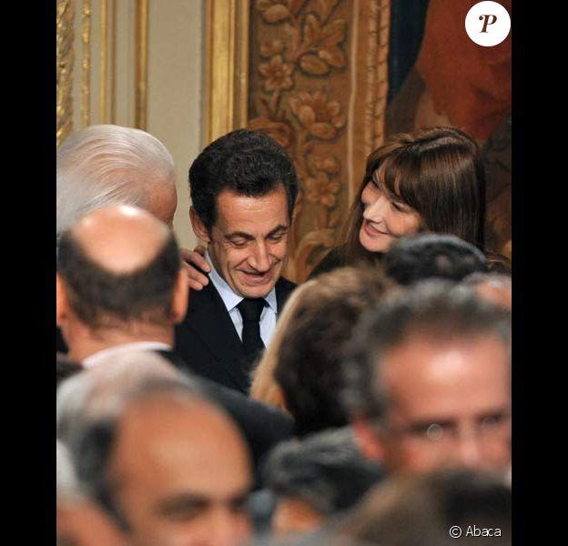 Carla Bruni-Sarkozy très fière de son mari de président