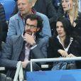 Marie Drucker et son compagnon Mathias Vicherat lors du match du quart de finale de l'UEFA Euro 2016 France-Islande au Stade de France à Saint-Denis, France le 3 juillet 2016. © Cyril Moreau/Bestimage
