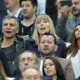 Nagui et sa femme, Claude Deschamps lors du match du quart de finale de l'UEFA Euro 2016 France-Islande au Stade de France à Saint-Denis, France le 3 juillet 2016. © Cyril Moreau/Bestimage