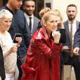 Exclusif - Céline Dion fait du shopping à Paris le 30 juin 2016. La chanteuse s'est rendue chez Burberry, Hermès, Make Up For Ever et le bijoutier Djula.