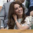 Kate Middleton, en compagnie de son mari le prince William, a assisté à la victoire d'Andy Murray contre Milos Raonic en finale de Wimbledon le 10 juillet 2016 à Londres.