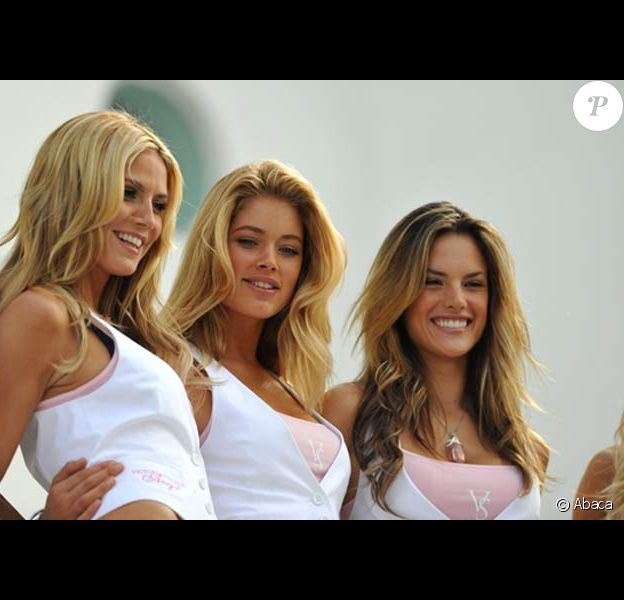 Heidi Klum, Doutzen Kroes, Miranda Kerr, Karolina Kurkova, Adriana Lima, Alessandra Ambrosio, Selita Ebanks, Marisa Miller pour Victoria's Secret
