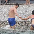 """Jamie Dornan est rejoint par sa femme Amelia - Jamie Dornan et Dakota Johnson sur le tournage de """"Fifty Shades Freed"""" à Saint-Jean-Cap-Ferrat, le 12 juillet 2016."""