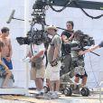 """Dakota Johnson et Jamie Dornan tournent une scène pour le film """"50 nuances plus sombres"""" dans le sud de la France à Saint-Jean Cap Ferrat le 12 juillet 2016."""