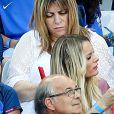 Ludivine Payet (la femme de Dimitri Payet), son fils Milan lors du match de la finale de l'Euro 2016 Portugal-France au Stade de France à Saint-Denis, France, le 10 juillet 2016. © Cyril Moreau/Bestimage