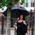 Exclusif - Blac Chyna enceinte et son fiancé Rob Kardashian sur le tournage de leur téléréalité à Washington le 4 juillet 2016. Le couple a passé la journée à visiter la Washington High School.