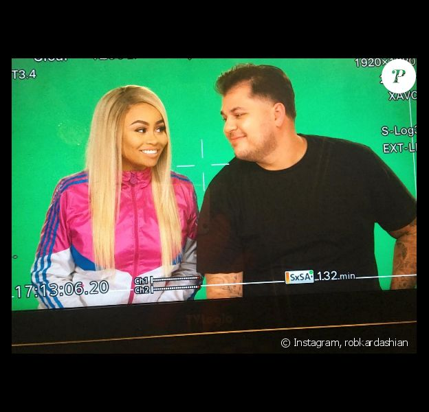 Première image du show Rob & Blac, prochainement diffusé sur la chaîne E!Entertainment et consacré à Rob Kardashian et sa fiancée Blac Chyna. Photo publiée sur Instagram, le 13 juillet 2016