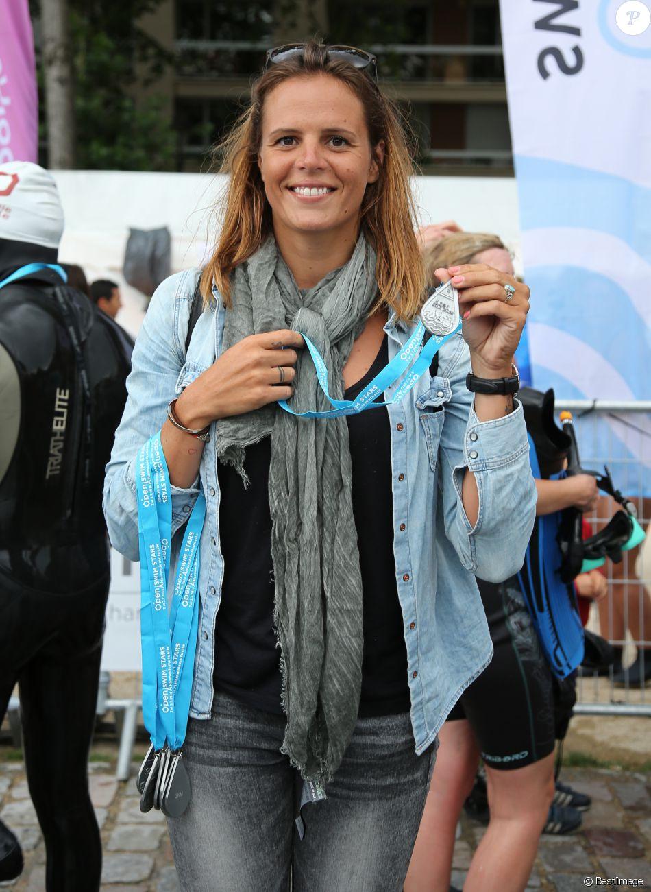 """Exclusif - Laure Manaudou, invitée de la 2ème édition de l'Open Swin Stars """"Paris à la nage"""" au bassin de la Villette à Paris. Le 2 juillet 2016"""