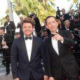"""Kev Adams et Gad Elmaleh à la montée des marches du film """"Elle"""" lors du 69ème Festival International du Film de Cannes. Le 21 mai 2016. © Rachid Bellak / Bestimage"""