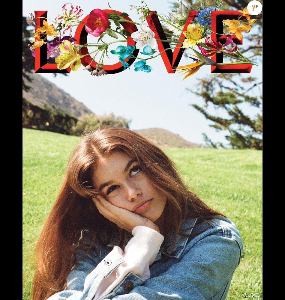 Kaia Gerber photographiée par Kendall Jenner pour le numéro LOVE16 de LOVE.