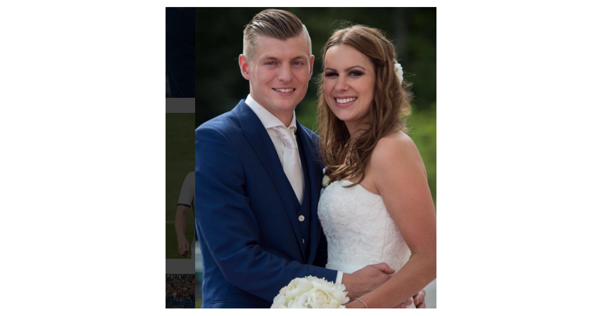 Toni kroos et sa femme jessica photo de leur mariage partag e par l 39 international allemand le - Raphael de casabianca et sa femme ...