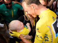 Christopher Froome: Retrouvailles émues avec son bébé et sa femme sur les Champs