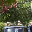L'infante Elena d'Espagne, le roi Felipe VI d'Espagne et le roi Juan Carlos d'Espagne. La famille royale espagnole célébrait le 30 juillet 2016 le 80e anniversaire de l'infante Pilar de Bourbon dans sa résidence à Calvia, près de Palma de Majorque.