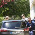 L'infante Elena d'Espagne, le roi Felipe VI d'Espagne, la reine Sofia et le roi Juan Carlos d'Espagne. La famille royale espagnole célébrait le 30 juillet 2016 le 80e anniversaire de l'infante Pilar de Bourbon dans sa résidence à Calvia, près de Palma de Majorque.
