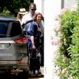 L'infante Elena d'Espagne, Le roi Felipe VI d'Espagne et La reine Sofia d'Espagne. La famille royale espagnole célébrait le 30 juillet 2016 le 80e anniversaire de l'infante Pilar de Bourbon dans sa résidence à Calvia, près de Palma de Majorque.