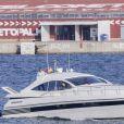 Le roi Juan Carlos d'Espagne - La famille royale d'Espagne en vacances à Majorque. Le 31 juillet 2016