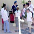 Les deux enfants de l'infante Elena d'Espagne, Felipe et Victoria, ont débuté leur stade de voile annuel à l'école de voile de Calanova à Palma de Majorque le 1er août 2016.