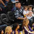 David Beckham, ses enfants et Francesca Leiweke le week-end dernier...