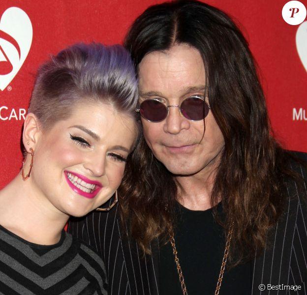 """Kelly Osbourne, Ozzy Osbourne - People au concert """"MusiCares MAP"""" à Los Angeles, le 13 mai 2014."""