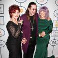 Ozzy Osbourne, Sharon Osbourne, Kelly Osbourne - 56 eme Soiree pre-Grammy au Beverly Hilton Hotel à Beverly Hills, le 25 janvier 2014