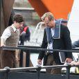 """Exclusif - Barry Keoghan et Christopher Nolan - L'équipe du film sur le tournage du film """"Dunkirk"""" (Dunkerque) du réalisateur Christopher Nolan à Weymouth Dorset, le 27 juillet 2016."""