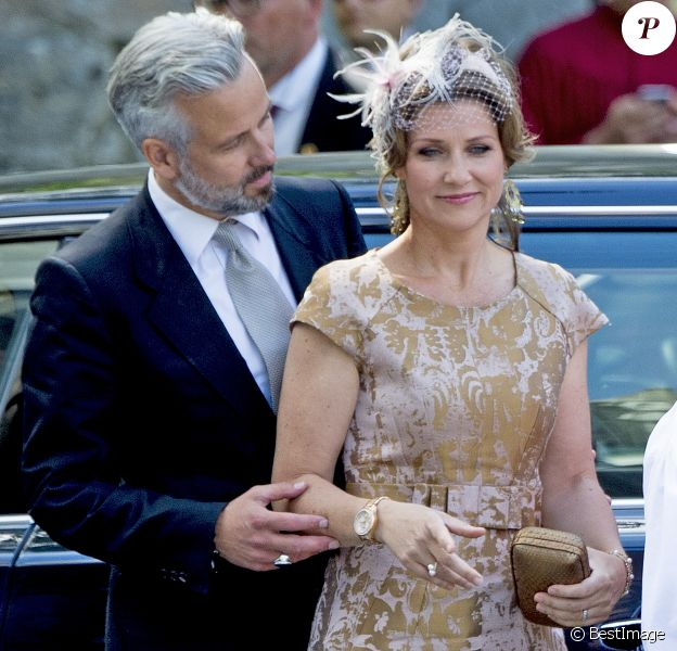 La princesse Märtha Louise de Norvège et Ari Behn le 23 juin 2016 lors du jubilé des 25 ans de règne du roi Harald V de Norvège. Le couple a annoncé son divorce le 5 août 2016, après 14 ans de mariage.