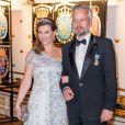 La princesse Märtha Louise de Norvège et Ari Behn le 30 avril 2016 à Stockholm lors du banquet pour le 70e anniversaire du roi Carl XVI Gustaf de Suède. Le couple a annoncé son divorce le 5 août 2016, après 14 ans de mariage.