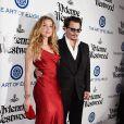 """Johnny Depp et sa femme Amber Heard lors du 9 ème Gala Annuel """"The Art Of Elysium"""" à Culver City le 9 janvier 2016."""