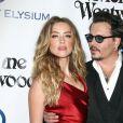 """Johnny Depp et sa femme Amber Heard au 9 ème Gala Annuel """"The Art Of Elysium"""" à Culver City le 9 janvier 2016."""