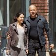"""Vin Diesel et Michelle Rodriguez sur le tournage de """"Fast & Furious 8"""" à Atlanta, le 12 juillet 2016."""