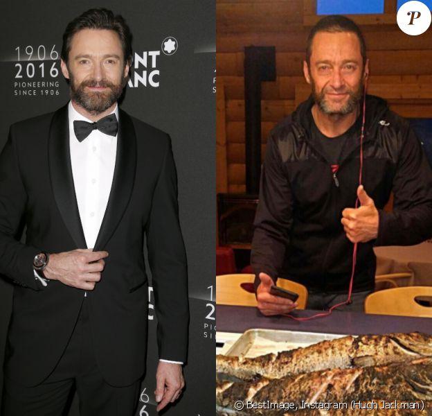 Hugh Jackman en avril 2016 vs Hugh Jackman en août 2016.