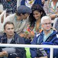 Matthew McConaughey avec sa femme Camila Alves assistent à la finale du 200m masculin quatre nages individuel aux Jeux Olympiques (JO) de Rio 2016 à Rio de Janeiro, Brésil, le 11 août 2016.