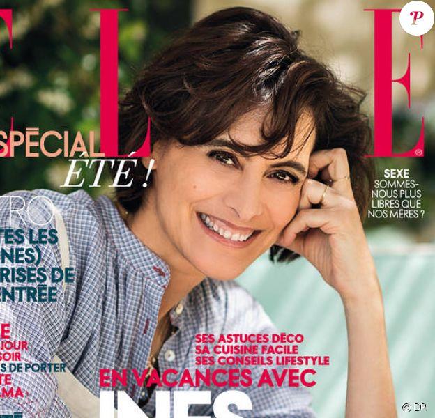 """Inès de la Fressange photographiée par Gilles Bensimon pour ELLE. Numéro """"spécial été""""."""