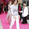 Inès de la Fressange - Défilé de mode Haute-Couture automne-hiver 2016/2017 Schiaparelli à Paris. Le 4 juillet 2016.