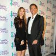 "Michael Weatherly et sa femme Bojana Jankovic lors du ""Healthy Child Healthy World ""Mom On A Mission GALA"" 2014"" à Los Angeles le 29 octobre 2014."