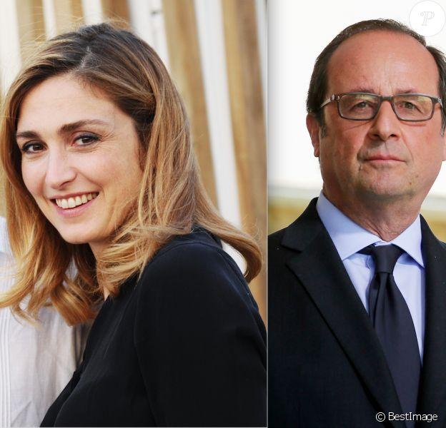 Julie Gayet et François Hollande (photomontage)