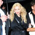 Madonna à la sortie de l'after party du MET Gala au Standard Hotel de New York le 2 mai 2016.