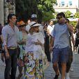 Madonna dans les rues de La Havane à Cuba le 16 août 2016