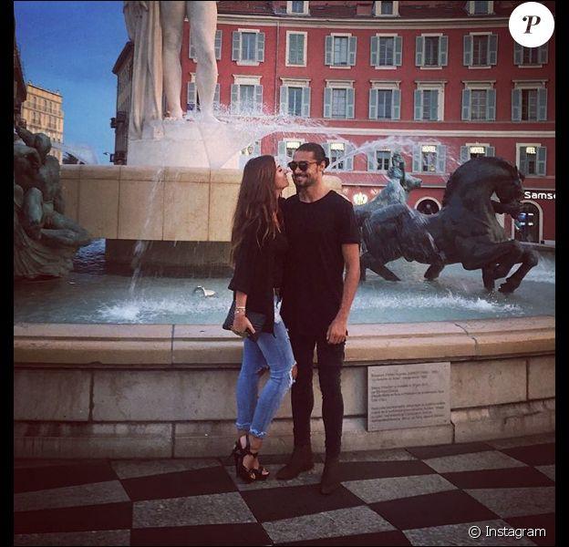 Julien Guirado et Martika amoureux à Nice, le 17 août 2016.