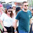 Robert Pattinson et Kristen Stewart au festival de musique de Coachella en Californie Indio, le 13 avril 2013