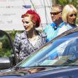 """Exclusif - Jessica Chastain, les cheveux rouges, sur un tournage à Montréal le 10 août 2016. Elle tourne une scène du film """"The Death and Life of  John F. Donovan """" de Xavier Dolan. 10/08/2016 - Montréal"""