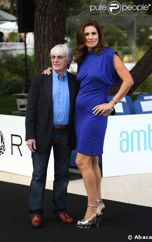 Bernie Ecclestone et sa femme Slavica