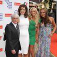 Bernie Ecclestone avec sa femme Slavica et leurs deux filles Petra et Tamara