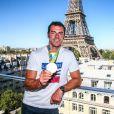 Maxime Beaumont - Conférence de presse et photocall avec les athlètes français de retour des Jeux Olympiques de Rio à l'hôtel Pullman face a la Tour Eiffel à Paris le 23 août 2016 © Jean-René Santini / Bestimage