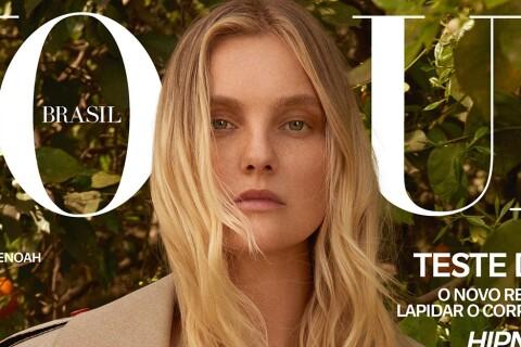 Caroline Trentini : Le top model allaite son fils en couverture de magazine