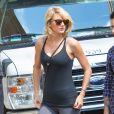 Taylor Swift en route pour son cours de gym à New York le 25 août 2016.
